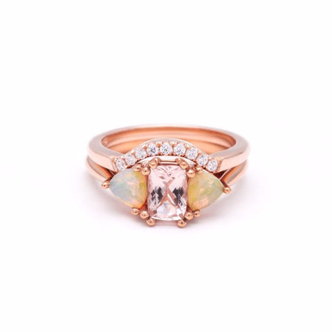 THREE STONE ENCHANTMENT UNION (No. 1) | ROSE GOLD