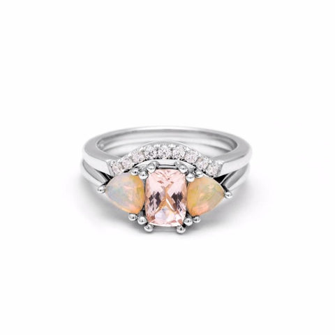 THREE STONE ENCHANTMENT UNION (No. 1) | WHITE GOLD