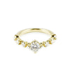 STRING OF STARS RING | 14K YELLOW GOLD & MOISSANITE