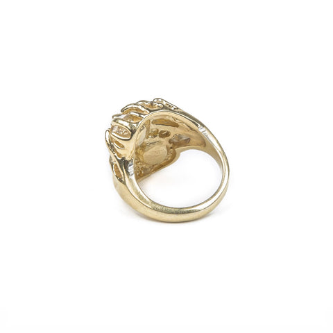 READY TO SHIP | THISTLE RING | GOLD VERMEIL & HERKIMER - AngelaMonacojewelry