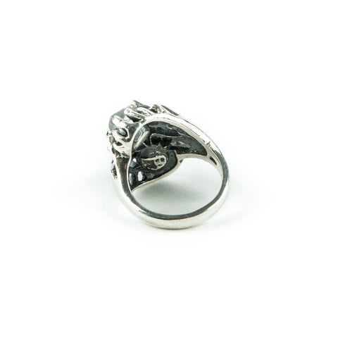 THISTLE RING | SILVER & HERKIMER - AngelaMonacojewelry