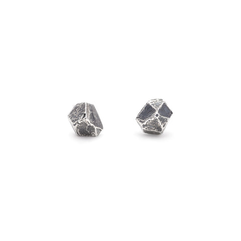 TINY BUT MIGHTY CAST CRYSTAL STUDS | SILVER - AngelaMonacojewelry