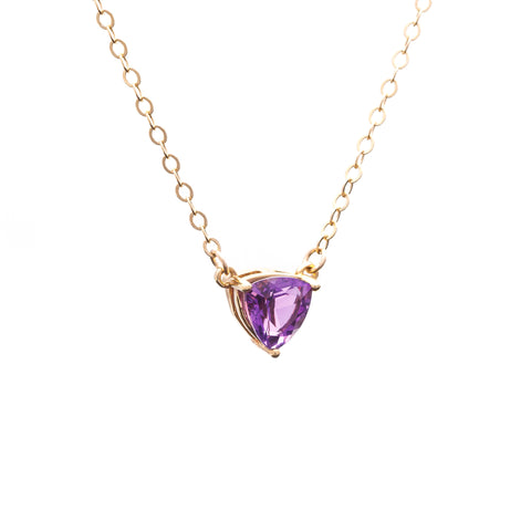TRILLION PENDANT NECKLACE | GOLD VERMEIL & AMETHYST