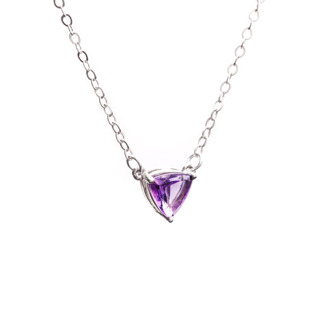 TRILLION PENDANT NECKLACE | SILVER & AMETHYST