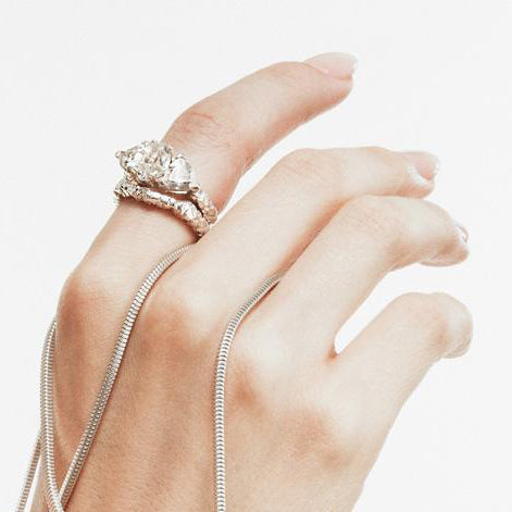 STONE AGE COCKTAIL RING | WHITE GOLD & HERKIMER