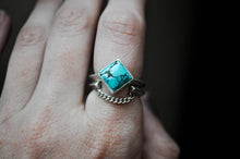 Everyday Stacker- Moonstone, Turquoise & Onyx