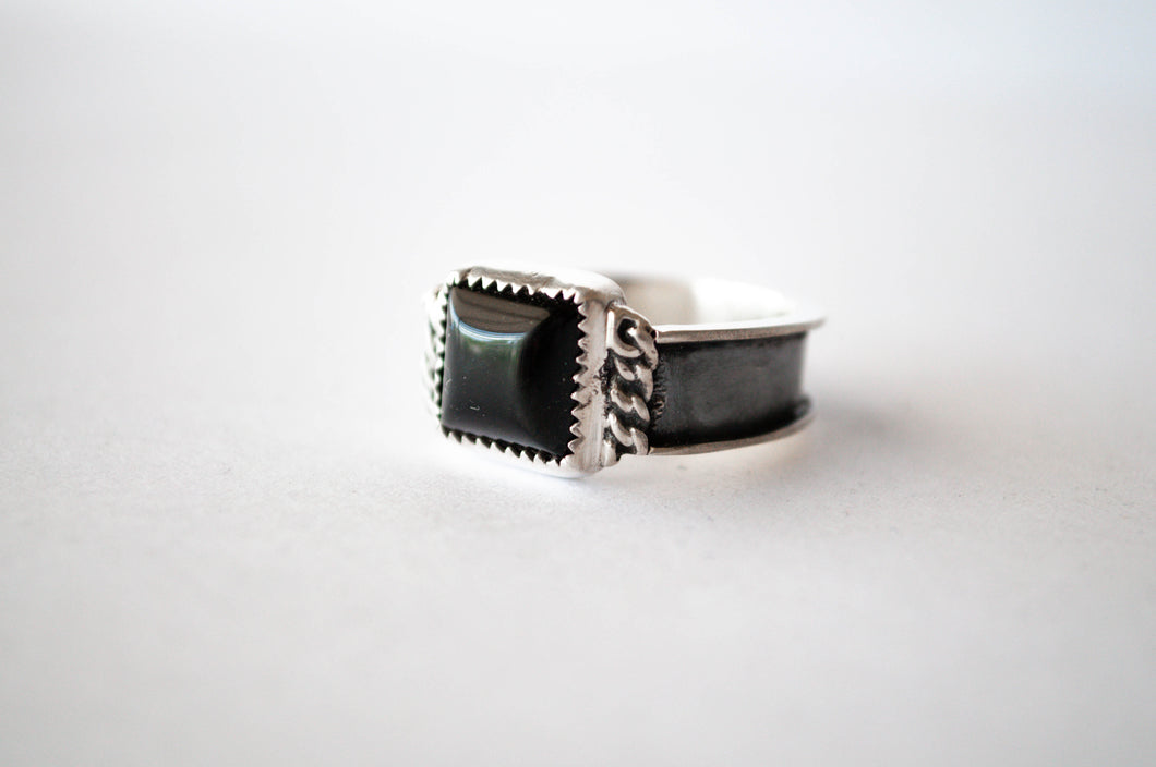 Onyx Chain Ring