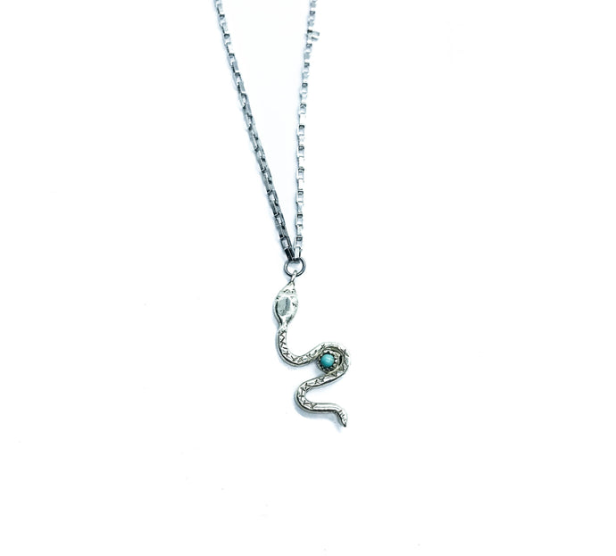 Turquoise Serpent Necklace