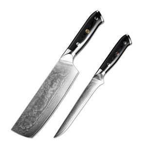 XITUO Damascus Steel Professional Chef Knife Set - made from Japanese Damascus steel