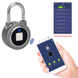 Smart lock fingerprint padlock mobile phone APP control Bluetooth unlocking luggage fingerprint lock trolley case fingerprint lock