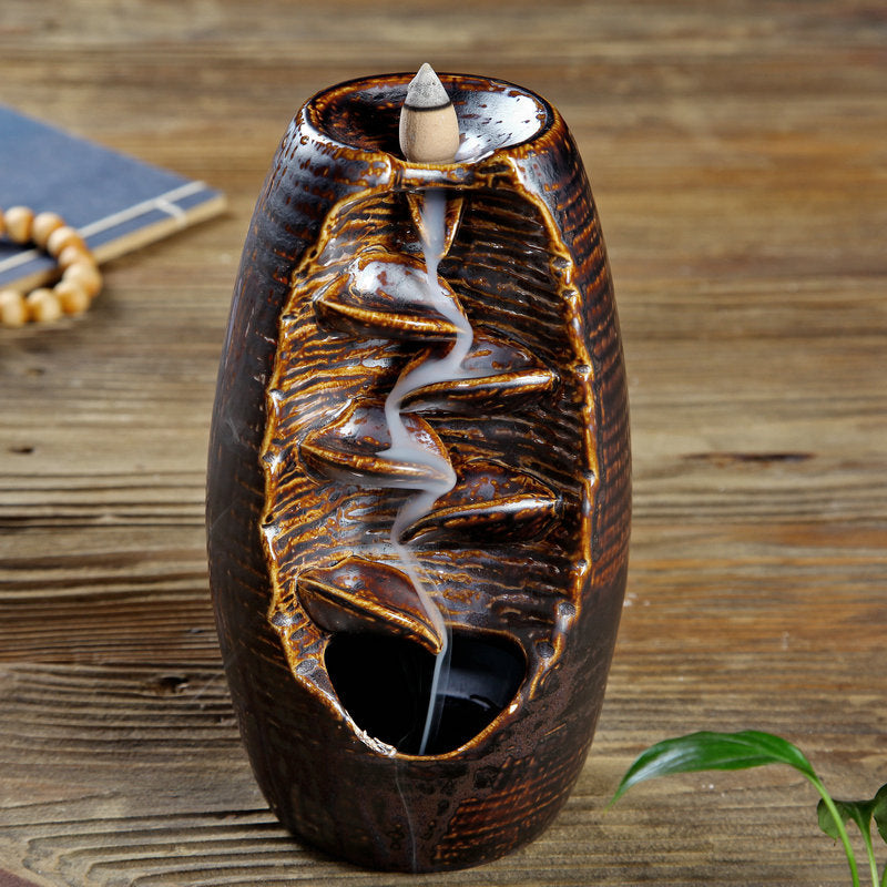 Multi-layers Ceramic Back flow Incense Burner