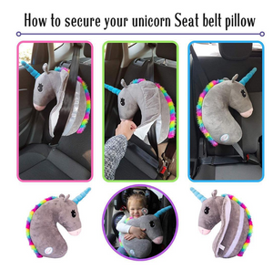 Unicorn Pillow for Seat Belt - Sleeping Pillow for Child