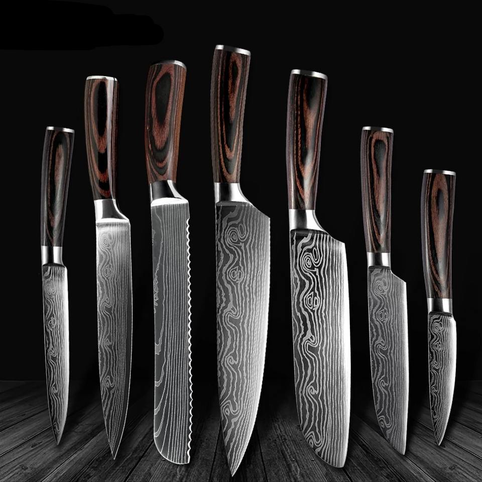 XITUO JAPANESE STYLE KNIFE SET (7 Piece Set Special offer) FREE Knife Sharper