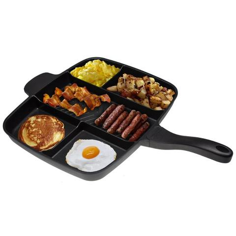 5in1 Multi Section Frying Pan Non-Stick Breakfast Skillet