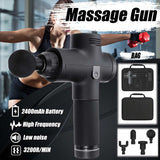 3600r/min Body Muscle Massager Electric Vibrating Therapy Guns LED Deep Tissue Sport Massage Machine Relax Massager with Bag
