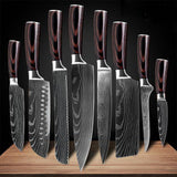 Professional Japanese Style Knife Set