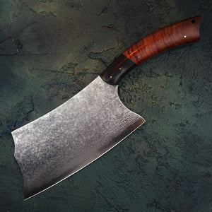 "FZIZUO 7.5"" VG10 Damascus Steel Chinese Cleaver  67 Layer of Damascus Steel  - Handmade"