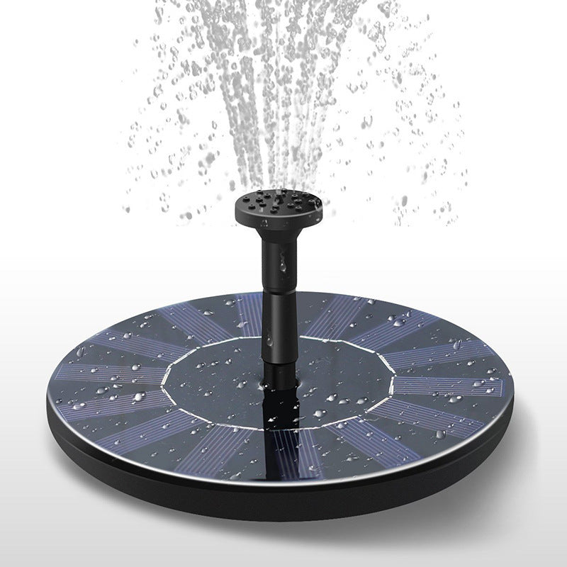 Solar Powered Floating Water Fountain for bird bath and garden features