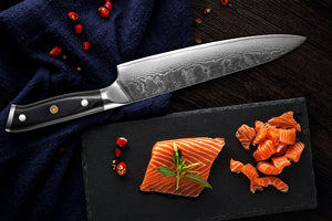 XITUO Damascus Steel Professional Chef Knives and Knife Set - made from Japanese Damascus steel
