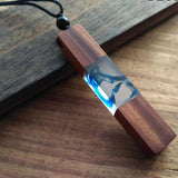 Handmade Vintage Resin Wood Necklace Pendant