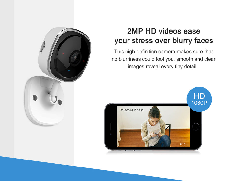 HD 1080P  Wireless Wifi Mini Network Camera with Night Vision