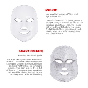 LED Light Therapy 7 Color Facial Mask  - Anti Ageing - Skin Care Rejuvenation