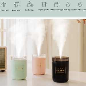 280ML Ultrasonic Air Candle Humidifier and Lamp