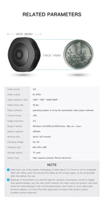 H6DV Mini Camera - Coin sized Security Camera