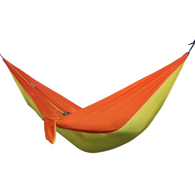 Portable Travel Hammock 2 Person Outdoor Camping Survival Hammock Garden Swing Travel Chair Travel