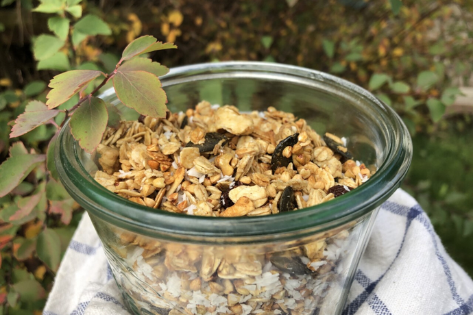 THE TRAVELLING VEGAN: Warming Winter Ginger Granola (Vegan, of course!)