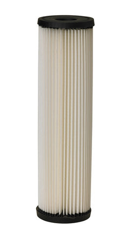"Pleated Sediment Water Filter | Standard 2.5"" X 10"" Size 