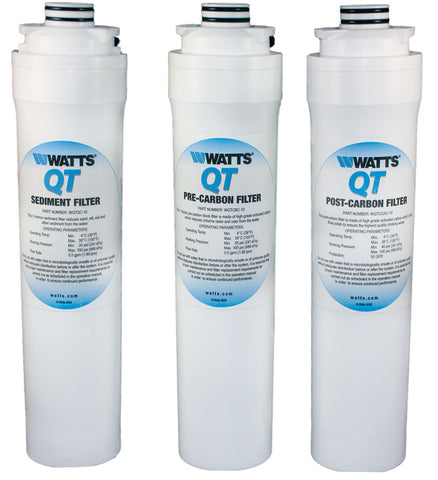 Watts Qt Quick Twist Reverse Osmosis Filters | Wqtsc-10 Wqtcbc-10 Wqtcgac-10 | Watts Filter