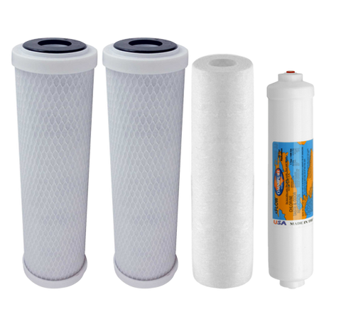 PUREVALUE Reverse Osmosis Filter Set | Standard RO Water Filters | Reverse Osmosis Filters