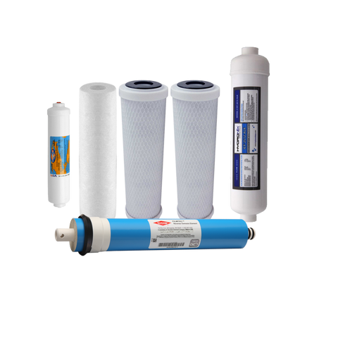 Proseries 6 Stage Remineralizer Water Filter Set With RO Membrane | Reverse Osmosis Filters