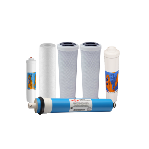ProSeries 6 Stage Calcite Acid Neutralizer Filter Set With Reverse Osmosis Membrane | Reverse Osmosis Filters
