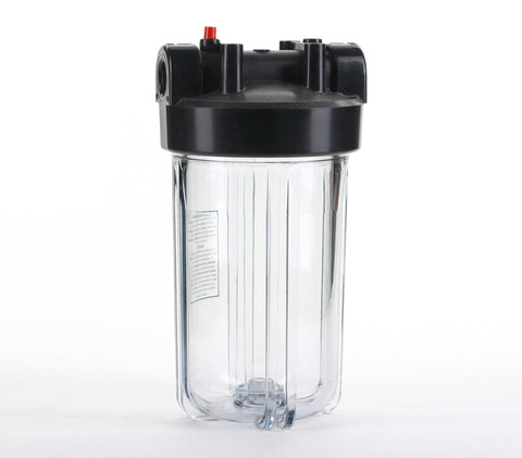 "Big Blue 10"" Clear Water Filter Housing 