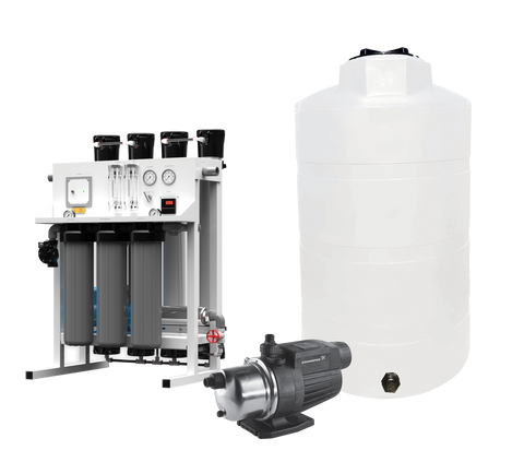 Complete Commercial Water System | 8800 GPD Water Filter System | Commercial Reverse Osmosis Water Filter System