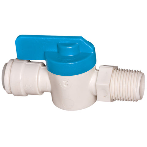 "Sea Tech Stop Valve 1/4"" Male X 1/4"" Quick Connect"