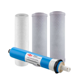 Sediment and Carbon Block Reverse Osmosis Filters With Membrane