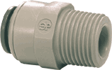"John Guest 3/8"" Quick Connect X 1/2"" Male Adapter 