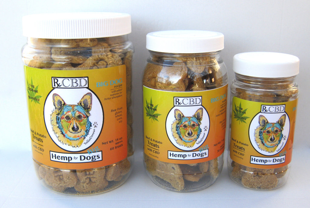 RxCBD Big Dogs Treats with Hemp CBD 3 sizes