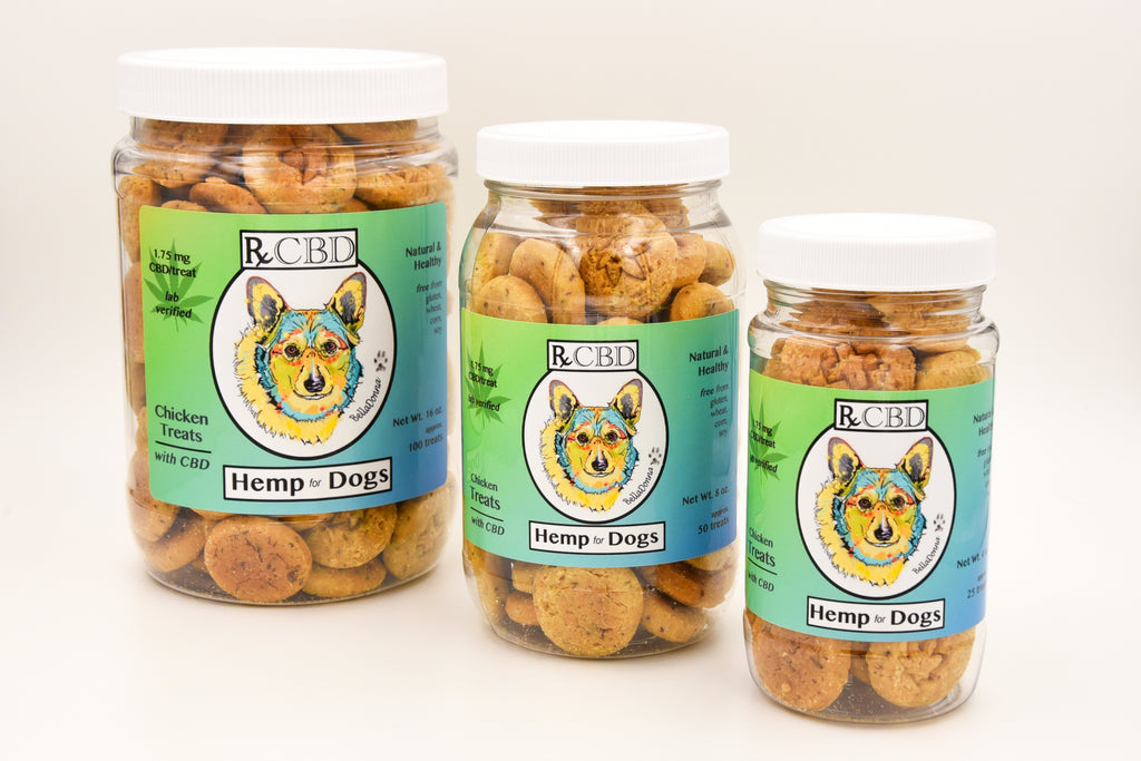 RxCBD Original Dog Treats Hemp CBD - 3 sizes