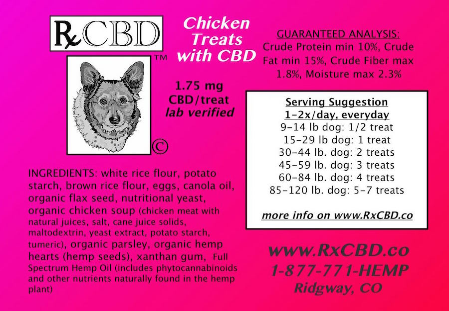 RxCBD Valentine's Day Dog Treats Hemp CBD - Ingredients & Dosage