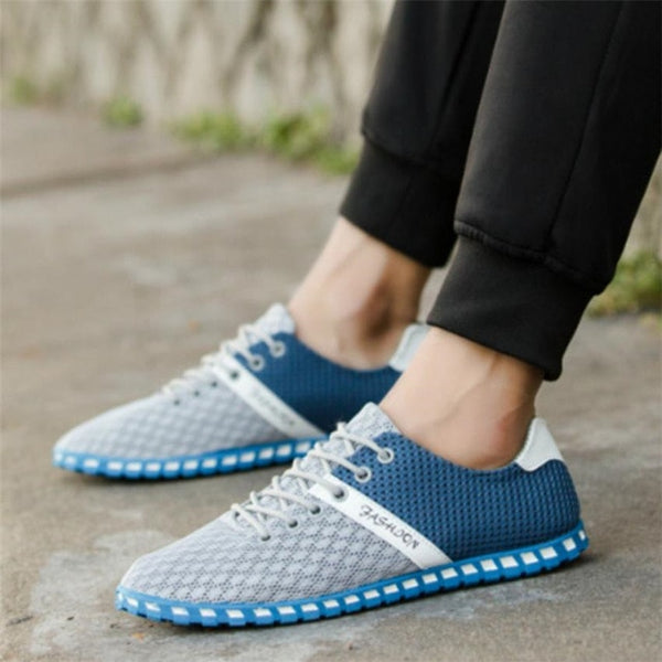 Men Shoes Mesh Comfortable Breathable Sneakers Flat
