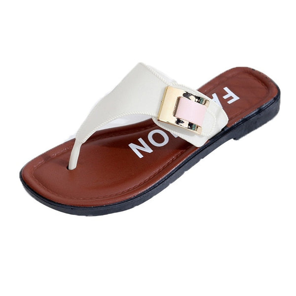 Women Slippers Flat Flip Flops Shoes
