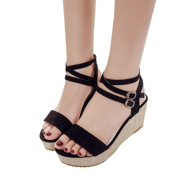 Women Sandals Shoes Fish Mouth Slippers High Heels