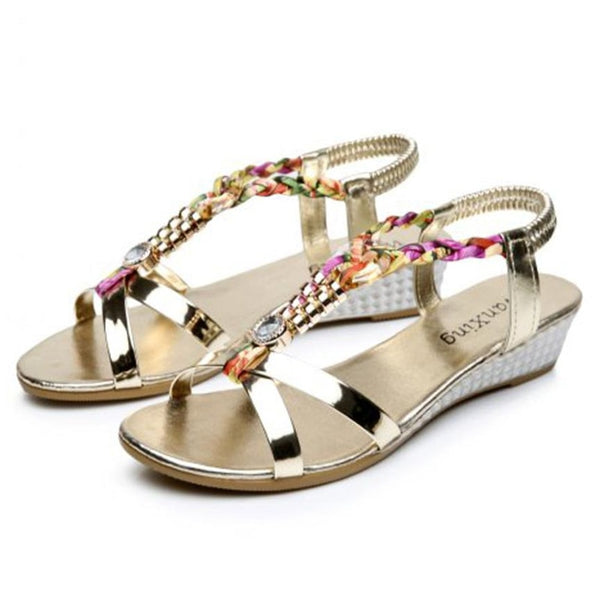 Shoes Slippers Rhinestone Women Flat Sandals