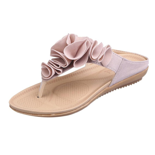 Flip Flop Floral Sandals Women Flat Shoes