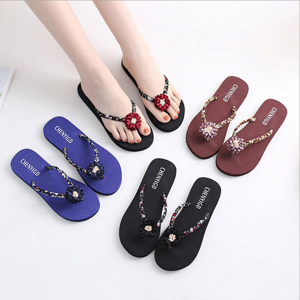 Women Shoes  Slim Flip Flops Sandals Bath Slippers
