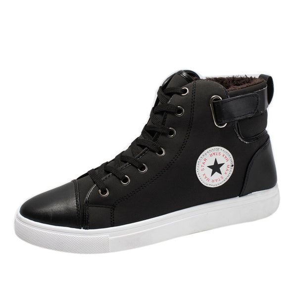 Mens High Top Sneakers Shoes Plus Velvet Ankle